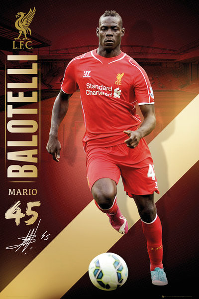 Juliste Liverpool FC - Balotelli 14/15