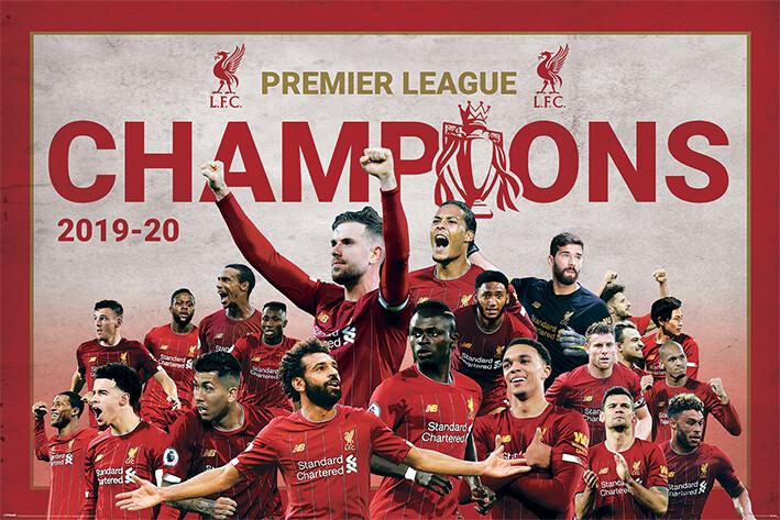 Juliste Liverpool FC - Champions Montage