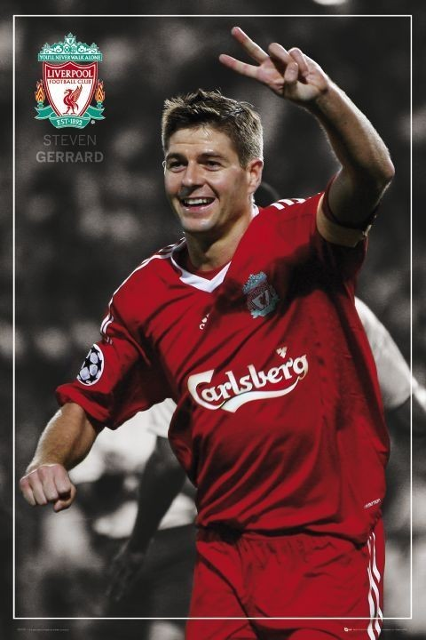 Juliste Liverpool - Gerrard pin up