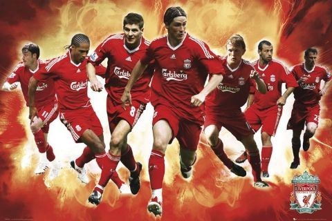 Juliste Liverpool - players 09/10
