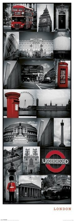 Juliste  Lontoo - collage