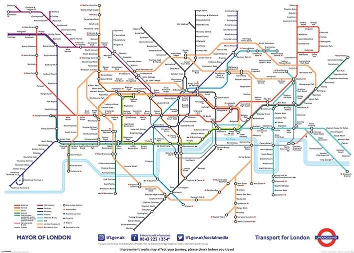 Lontoon Metrokartta Juliste Poster Tilaa Netista Europosters Fi