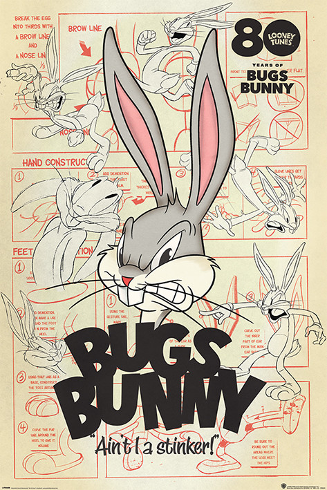 Juliste Looney Tunes - Bugs Bunny Aint I a Stinker