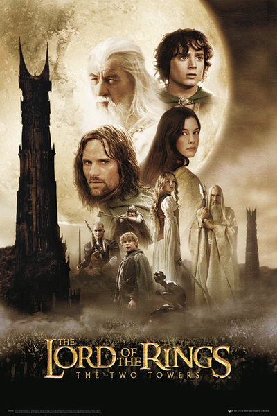 Juliste Lord of the rings - two towers one sheet