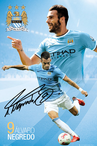 Juliste Manchester City FC - Negredo 13/14