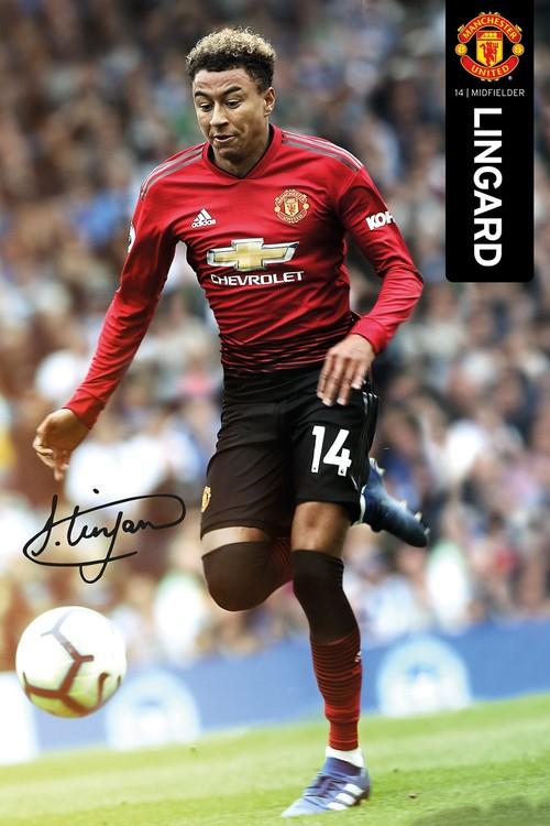 Juliste Manchester United - Lingard 18-19