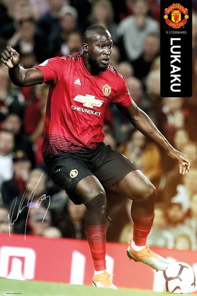 Juliste  Manchester United - Lukaku 18-19