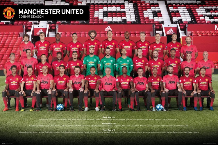 Juliste  Manchester United - Players 18-19