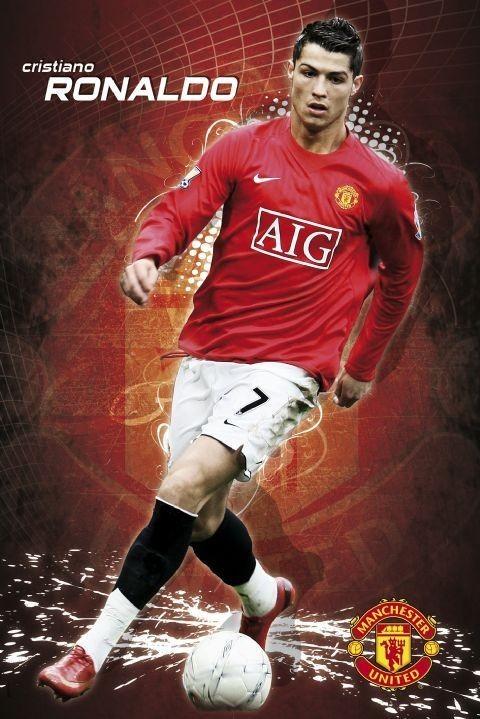 Juliste Manchester United - Ronaldo 08/09