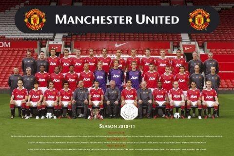 Juliste Manchester United - Team photo 10/11