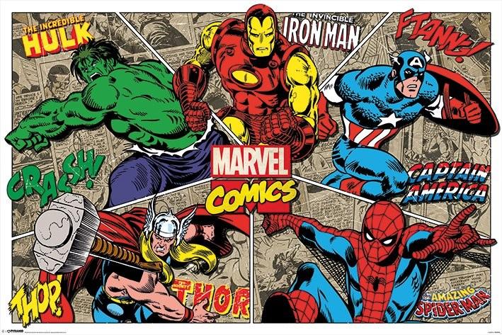 Juliste Marvel Comics - Character Burst