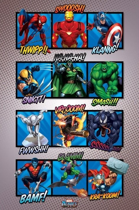 Juliste MARVEL HEROES - sound effects