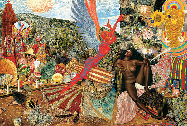 Juliste Mati Klarwein - Santana Annunciation (Abraxas Cover Artwork)