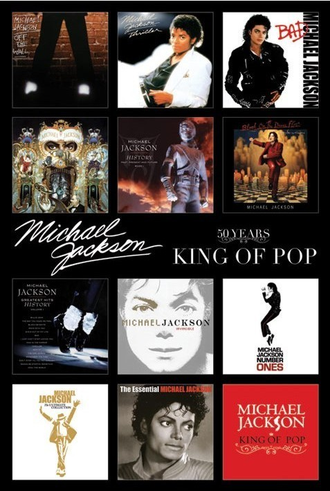 Juliste Michael Jackson - album covers