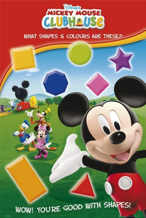 Juliste MICKEY MOUSE - shapes