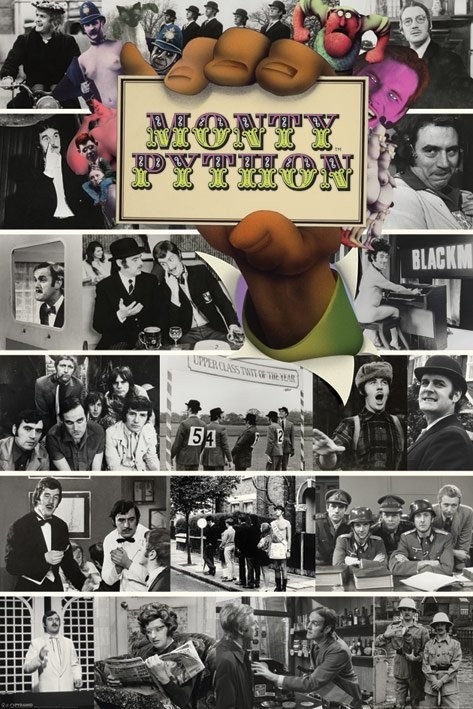 Juliste Monty Python - flying circus montage