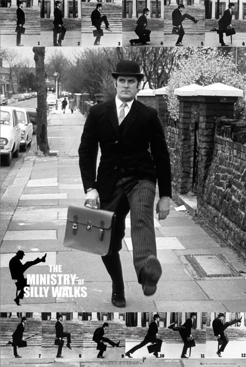 Juliste Monty Python - the ministry of silly walks