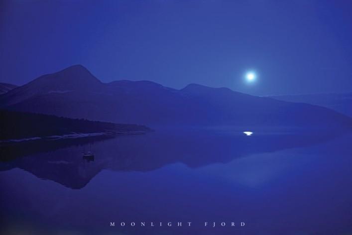 Juliste Moonlight fjord