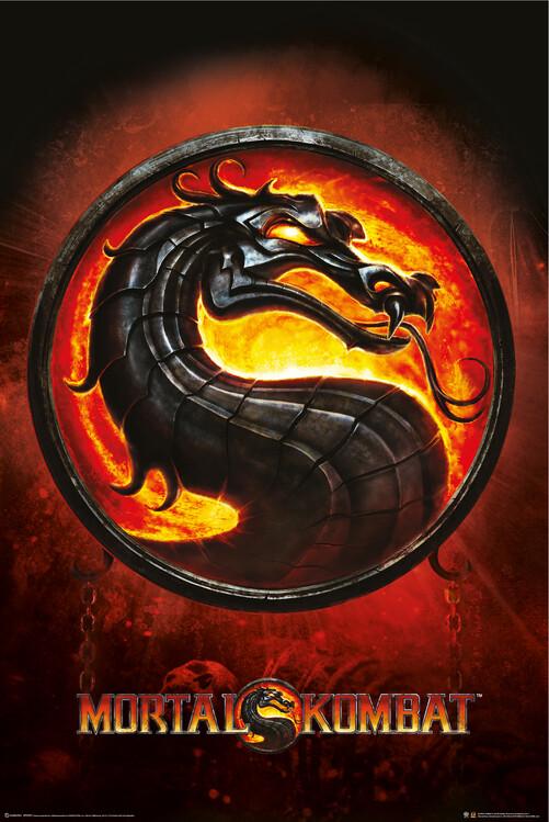 Juliste Mortal Kombat - Lohikäärme