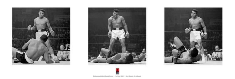 Juliste Muhammad Ali vs. Sonny Liston - triptych
