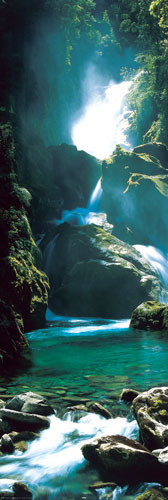Juliste New Zealand - waterfall