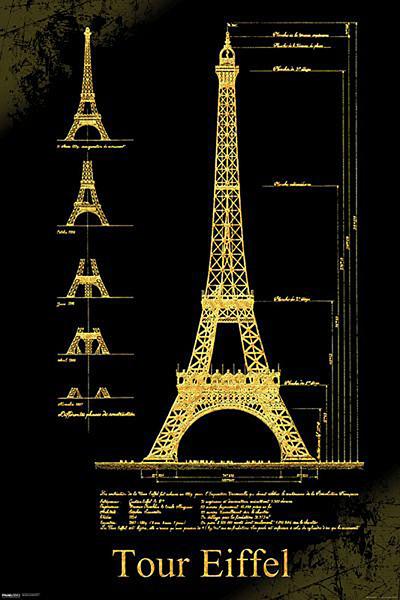 Juliste Pariisi - Eiffel torni