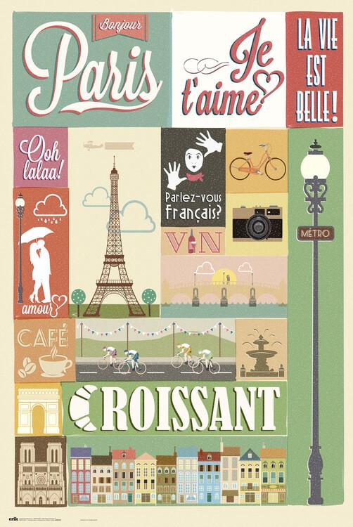 Juliste Paris - Collage