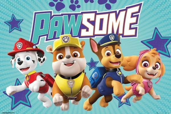 Juliste  Paw Patrol - Pawsome