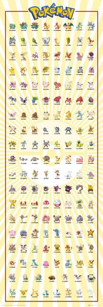 Juliste Pokemon - Kanto 151