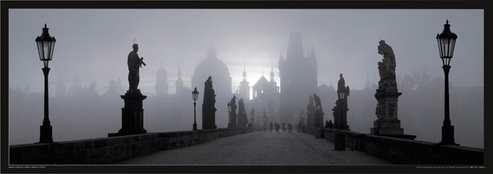 Juliste Prague – Charles bridge / b&w