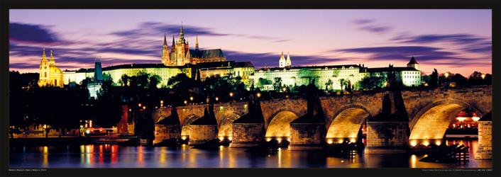 Juliste Prague – Prague castle & Charles bridge