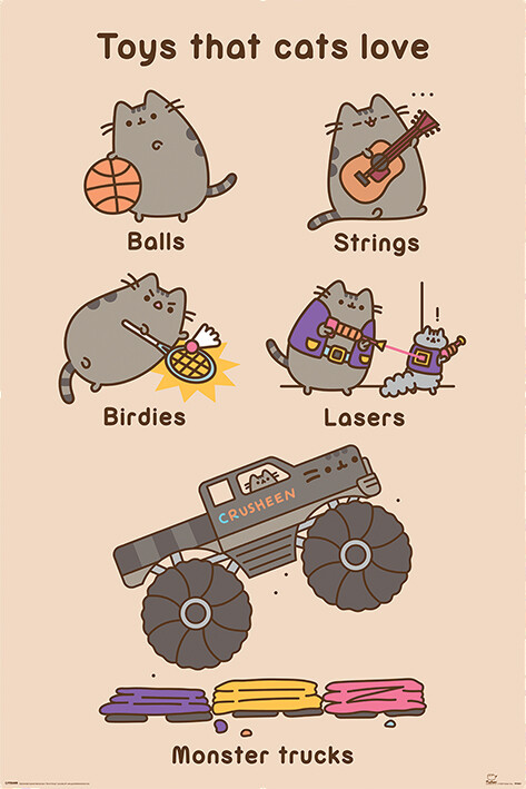 Juliste Pusheen - Toys for Cats