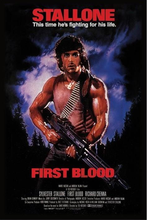 Juliste RAMBO - first blood
