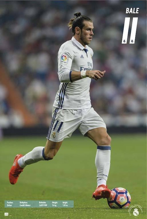 Juliste  Real Madrid 2016/2017 - Gareth Bale