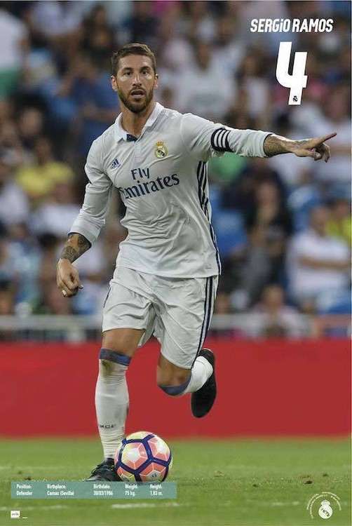 Juliste  Real Madrid 2016/2017 - Sergio Ramos Accion