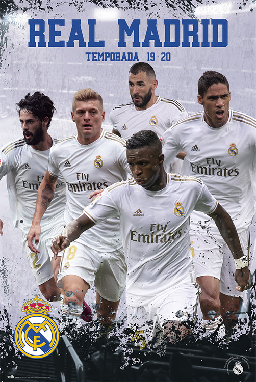 Juliste  Real Madrid 2019/2020 - Grupo