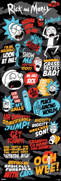 Juliste Rick and Morty - Frases