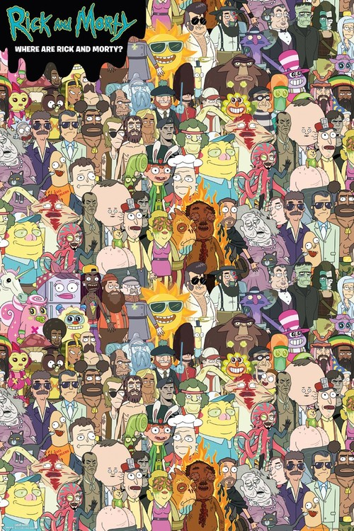 Juliste Rick and Morty - Where's Rick