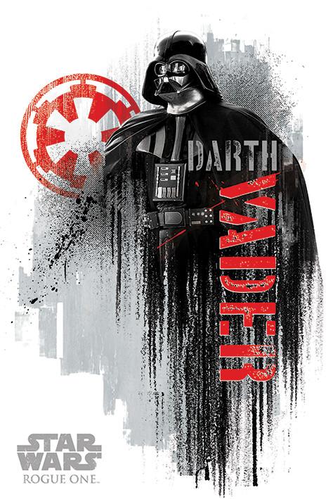 Juliste Rogue One: Star Wars Story - Darth Vader Grunge
