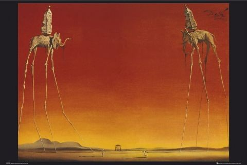 Juliste Salvador Dalí – elephants