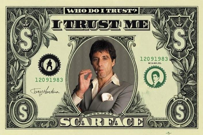 Juliste  SCARFACE - dollar