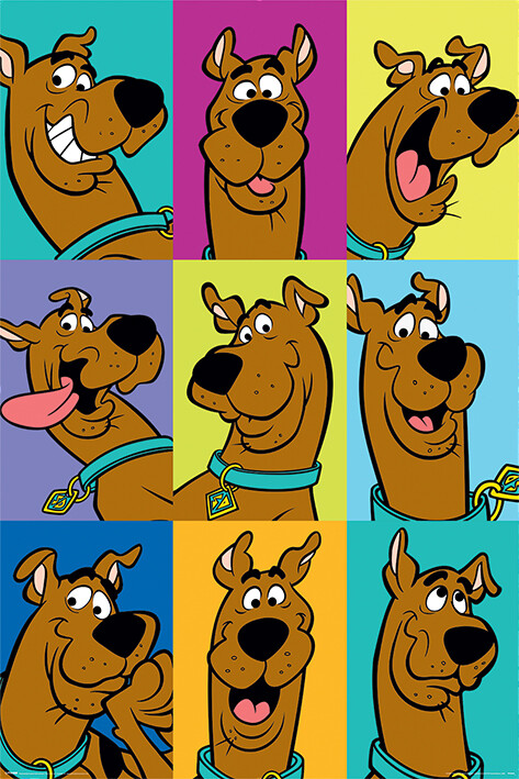 Juliste Scooby Doo - The Many Faces of Scooby Doo