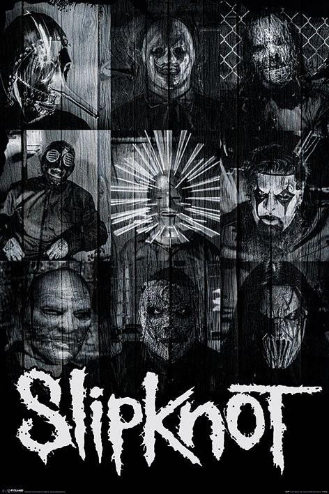 Juliste Slipknot - Masks