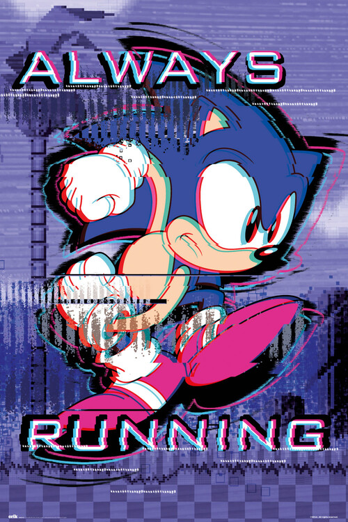 Juliste Sonic the Hedgehog - Always Runnig