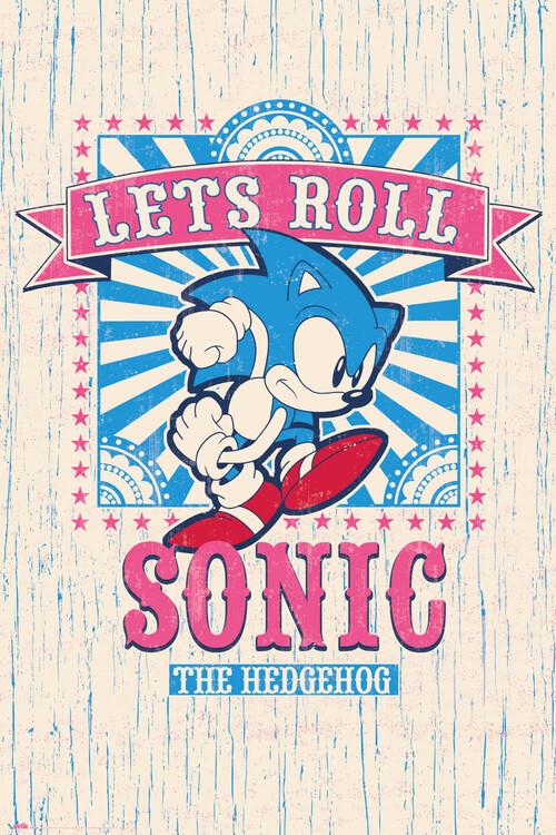 Juliste Sonic the Hedgehog - Let's Roll