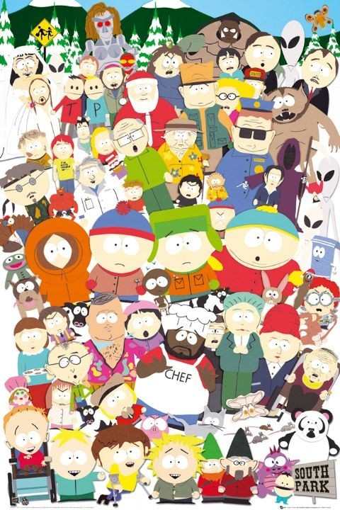 Juliste  SOUTH PARK - cast