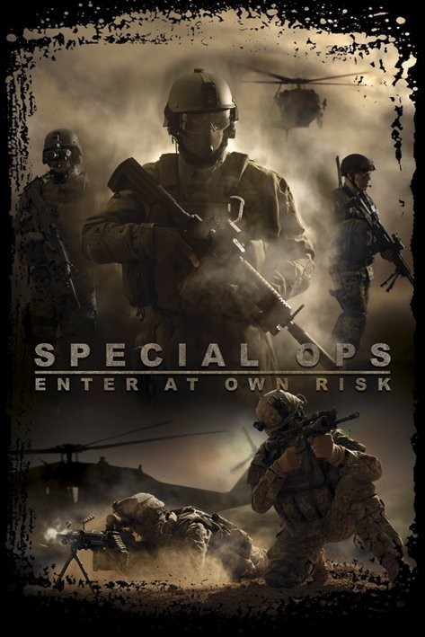 Juliste Special Ops -enter at own risk