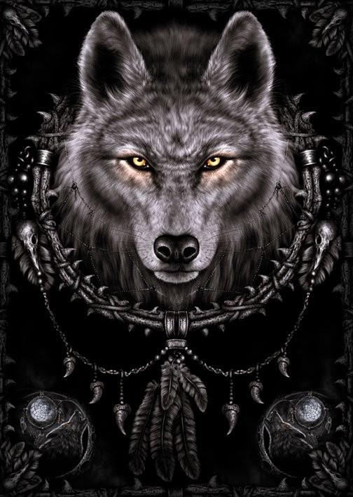Juliste Spiral - wolf dreams