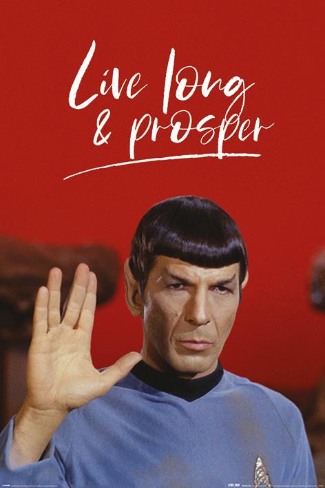 Juliste Star Trek - Live Long and Prosper