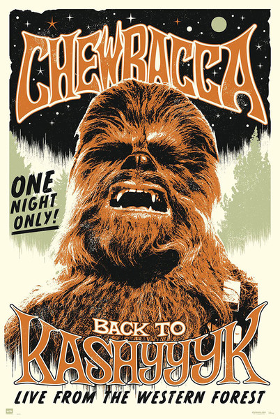 Juliste Star Wars -  Chewbacc back to Kashyyyk